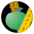 Green apple diet icon Royalty Free Stock Image