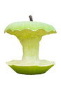 Green apple isolated big core made with concrete Royalty Free Stock Photo