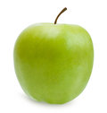 Green apple  over white with path Royalty Free Stock Photo