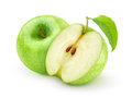 Green apples over white background Stock Photography