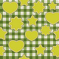 Green application - seamless pattern Stock Photos