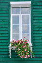 Green architecture and slim window Royalty Free Stock Photography