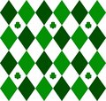 Green Argyle Stock Image