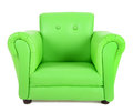 Green armchair isolated on white background Stock Image