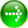 Green arrow button Stock Images