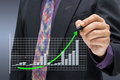 Green arrow on success graph