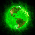 Green aura of Earth - America Royalty Free Stock Photography