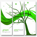 Green background abstract with tree on a bright surface Royalty Free Stock Photography