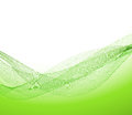 Green background abstract wave pattern Royalty Free Stock Image