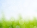Green background with bokeh defocused lights Royalty Free Stock Photography