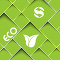 Green background with ecology signs square Stock Image