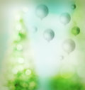 Green balloons background Stock Photo