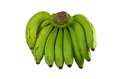 Green banana isolated on white background Royalty Free Stock Photos