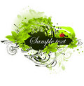 Green banner Royalty Free Stock Photo
