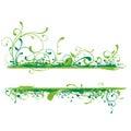 Green banner illustration Stock Photo