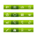 Green bar medicine icons Stock Photo