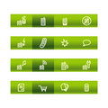 Green bar mobile phone icons Royalty Free Stock Image