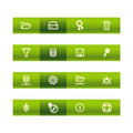 Green bar server icons Stock Photo