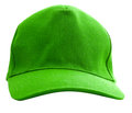A green baseball cap is isolated Stock Image