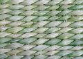 Green basket weave background close up view of Stock Photography