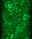 Green batik background Royalty Free Stock Photography