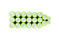Green batteries color with ordinary Royalty Free Stock Photography