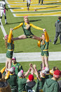 Green Bay Packers Cheerleaders at Lambeau Field Royalty Free Stock Photo