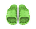 Green beach sandals Royalty Free Stock Photo