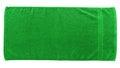 Green beach towel Royalty Free Stock Photo