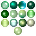 Green beads Royalty Free Stock Images