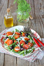 Green bean salad with tomatoes Royalty Free Stock Photo