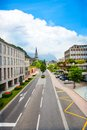 Green and beautiful streets of vaduz liechtenstein town in kingdom tiny country in europe Stock Photography