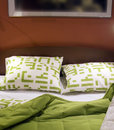 Green bed Stock Images