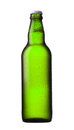 Green beer bottle on white background Royalty Free Stock Image