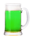 Green beer isolated on a white background classic st patricks day beverage Stock Photos