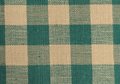 Green and beige checkered cloth up close of a Royalty Free Stock Image