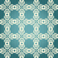 Green and beige damask seamless floral pattern Stock Photos