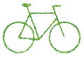 Green bicycle Royalty Free Stock Images
