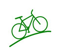 Green bike silhouette vector image Stock Photos