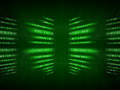 Green binary code on black Royalty Free Stock Photo