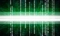 Green binary code on black Royalty Free Stock Photo