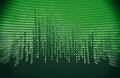 Green binary code Royalty Free Stock Photo