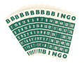 Green bingo cards isolated Royalty Free Stock Photo