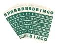 Green bingo cards isolated Royalty Free Stock Photo