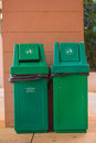 Green bins Royalty Free Stock Photo