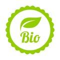 Green Bio icon or symbol Royalty Free Stock Photo