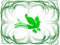 Green bird frame Royalty Free Stock Image