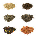 Green, black, floral and herbal tea Royalty Free Stock Images