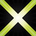 Green and black halftone background design Royalty Free Stock Image