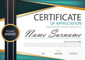 Green black label abstract Elegance horizontal certificate with Vector illustration ,white frame certificate template with clean Royalty Free Stock Photo